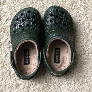 Kids lined Crocs